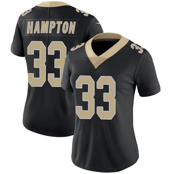 Women's Nike New Orleans Saints Saquan Hampton Black Team Color 100th Vapor Untouchable Jersey - Limited
