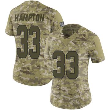 Women's Nike New Orleans Saints Saquan Hampton Camo 2018 Salute to Service Jersey - Limited