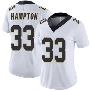 Women's Nike New Orleans Saints Saquan Hampton White Vapor Untouchable Jersey - Limited