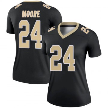 Women's Nike New Orleans Saints Sterling Moore Black Jersey - Legend