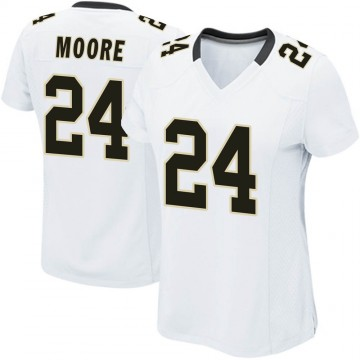 Women's Nike New Orleans Saints Sterling Moore White Jersey - Game