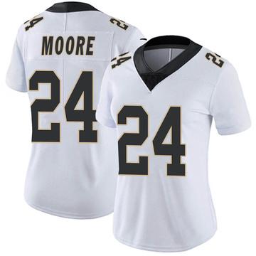 Women's Nike New Orleans Saints Sterling Moore White Vapor Untouchable Jersey - Limited