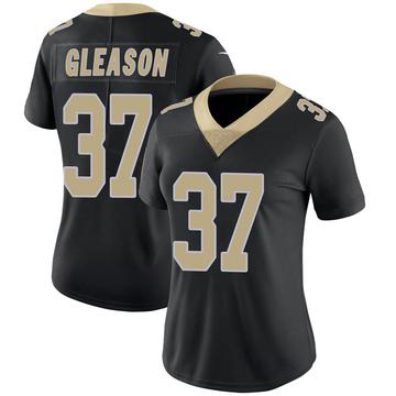 Women's Nike New Orleans Saints Steve Gleason Black Team Color 100th Vapor Untouchable Jersey - Limited