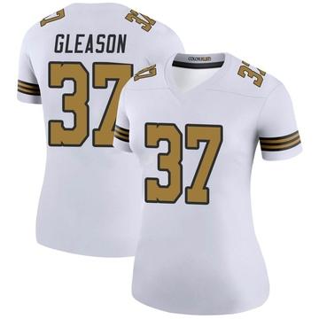 Women's Nike New Orleans Saints Steve Gleason White Color Rush Jersey - Legend