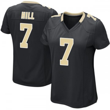 Women's Nike New Orleans Saints Taysom Hill Black Team Color Jersey - Game