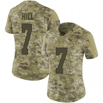 Women's Nike New Orleans Saints Taysom Hill Camo 2018 Salute to Service Jersey - Limited