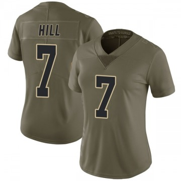Women's Nike New Orleans Saints Taysom Hill Green 2017 Salute to Service Jersey - Limited