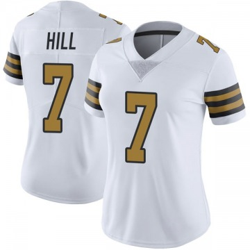 Women's Nike New Orleans Saints Taysom Hill White Color Rush Jersey - Limited