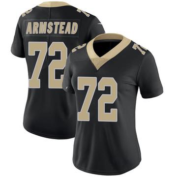 Women's Nike New Orleans Saints Terron Armstead Black Team Color 100th Vapor Untouchable Jersey - Limited