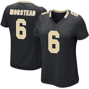 Women's Nike New Orleans Saints Thomas Morstead Black Team Color Jersey - Game