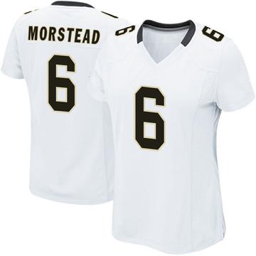 Women's Nike New Orleans Saints Thomas Morstead White Jersey - Game