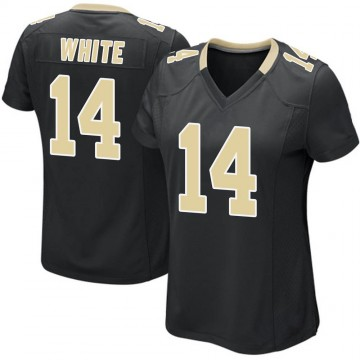 Women's Nike New Orleans Saints Tim White White Black Team Color Jersey - Game