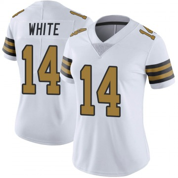 Women's Nike New Orleans Saints Tim White White Color Rush Jersey - Limited