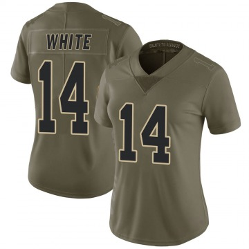 Women's Nike New Orleans Saints Tim White White Green 2017 Salute to Service Jersey - Limited