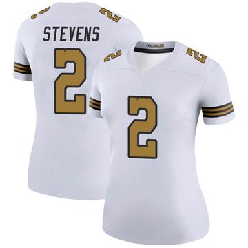 Women's Nike New Orleans Saints Tommy Stevens White Color Rush Jersey - Legend