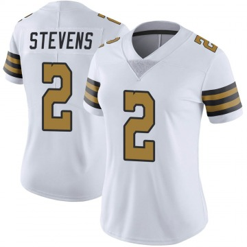 Women's Nike New Orleans Saints Tommy Stevens White Color Rush Jersey - Limited