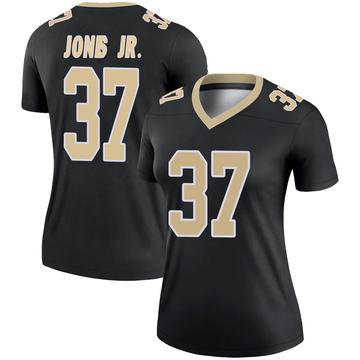 Women's Nike New Orleans Saints Tony Jones Jr. Black Jersey - Legend