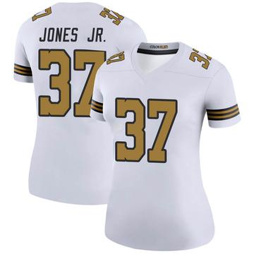 Women's Nike New Orleans Saints Tony Jones Jr. White Color Rush Jersey - Legend