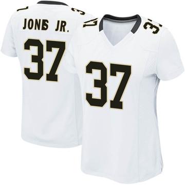 Women's Nike New Orleans Saints Tony Jones Jr. White Jersey - Game