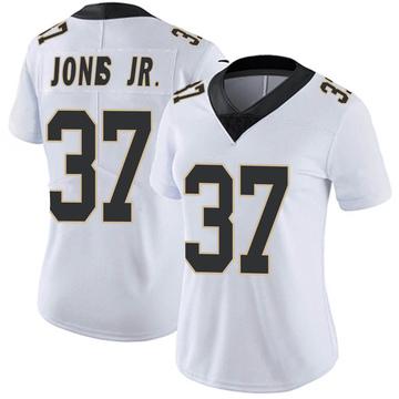Women's Nike New Orleans Saints Tony Jones Jr. White Vapor Untouchable Jersey - Limited