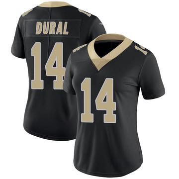 Women's Nike New Orleans Saints Travin Dural Black Team Color 100th Vapor Untouchable Jersey - Limited