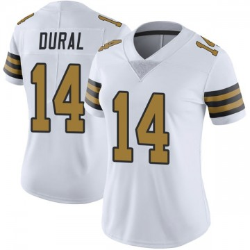 Women's Nike New Orleans Saints Travin Dural White Color Rush Jersey - Limited