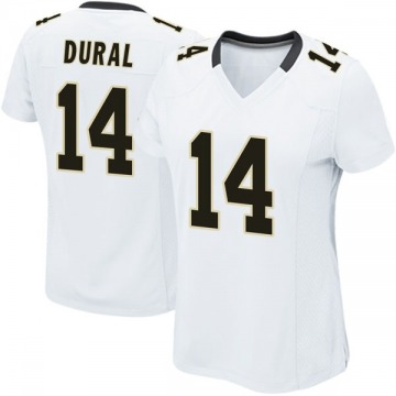 Women's Nike New Orleans Saints Travin Dural White Jersey - Game