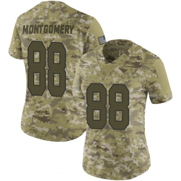 Women's Nike New Orleans Saints Ty Montgomery Camo 2018 Salute to Service Jersey - Limited