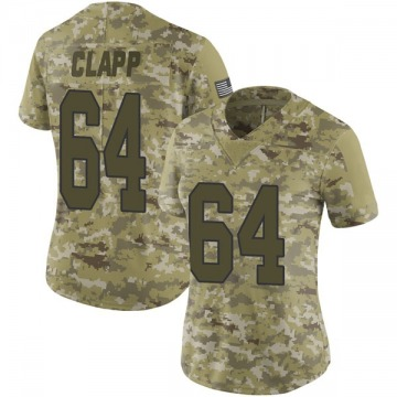 Women's Nike New Orleans Saints Will Clapp Camo 2018 Salute to Service Jersey - Limited