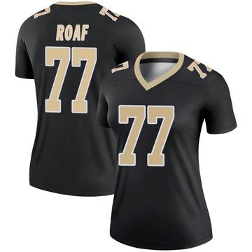 Women's Nike New Orleans Saints Willie Roaf Black Jersey - Legend