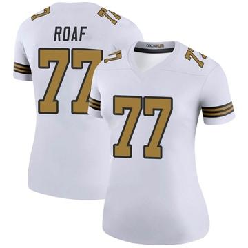 Women's Nike New Orleans Saints Willie Roaf White Color Rush Jersey - Legend
