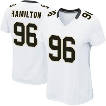 Women's Nike New Orleans Saints Woodrow Hamilton White Jersey - Game