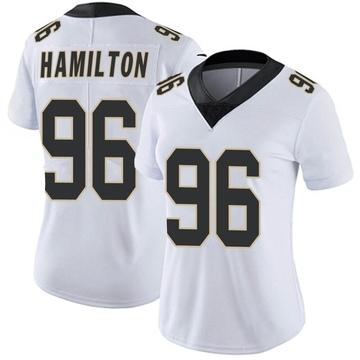 Women's Nike New Orleans Saints Woodrow Hamilton White Vapor Untouchable Jersey - Limited