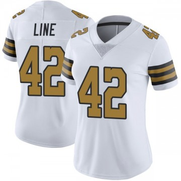 Women's Nike New Orleans Saints Zach Line White Color Rush Jersey - Limited