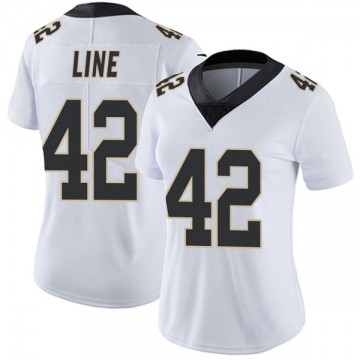 Women's Nike New Orleans Saints Zach Line White Vapor Untouchable Jersey - Limited