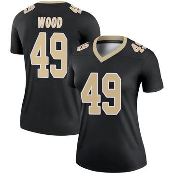 Women's Nike New Orleans Saints Zach Wood Black Jersey - Legend