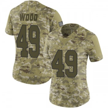 Women's Nike New Orleans Saints Zach Wood Camo 2018 Salute to Service Jersey - Limited