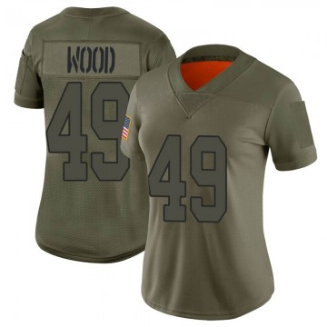 Women's Nike New Orleans Saints Zach Wood Camo 2019 Salute to Service Jersey - Limited
