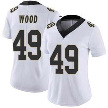 Women's Nike New Orleans Saints Zach Wood White Vapor Untouchable Jersey - Limited