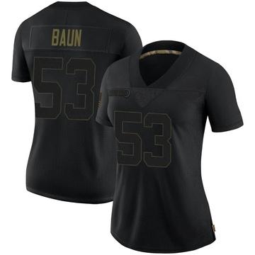 Women's Nike New Orleans Saints Zack Baun Black 2020 Salute To Service Jersey - Limited