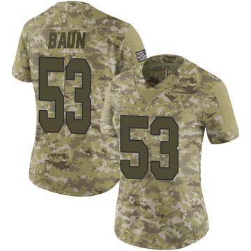 Women's Nike New Orleans Saints Zack Baun Camo 2018 Salute to Service Jersey - Limited