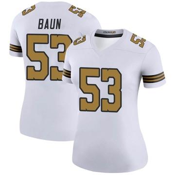 Women's Nike New Orleans Saints Zack Baun White Color Rush Jersey - Legend
