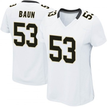 Women's Nike New Orleans Saints Zack Baun White Jersey - Game