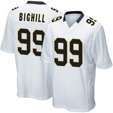 Youth Nike New Orleans Saints Adam Bighill White Jersey - Game