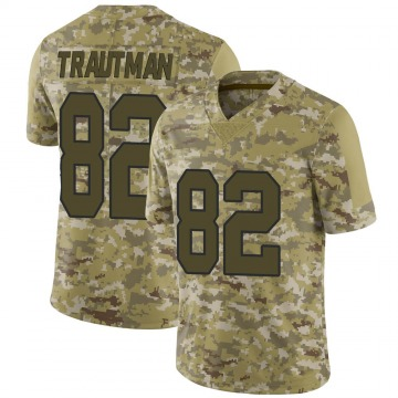Youth Nike New Orleans Saints Adam Trautman Camo 2018 Salute to Service Jersey - Limited