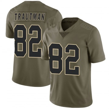 Youth Nike New Orleans Saints Adam Trautman Green 2017 Salute to Service Jersey - Limited