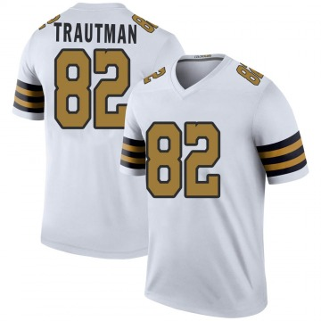 Youth Nike New Orleans Saints Adam Trautman White Color Rush Jersey - Legend
