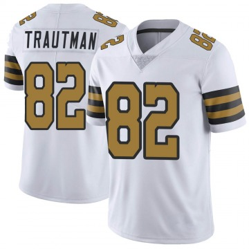 Youth Nike New Orleans Saints Adam Trautman White Color Rush Jersey - Limited