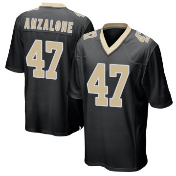 Youth Nike New Orleans Saints Alex Anzalone Black Team Color Jersey - Game