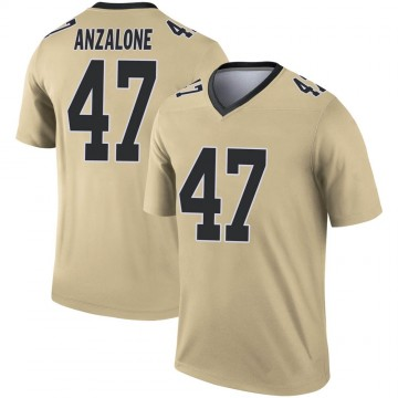 Youth Nike New Orleans Saints Alex Anzalone Gold Inverted Jersey - Legend
